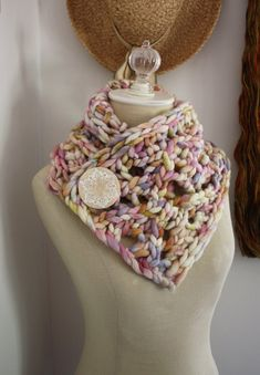 Knitting Pattern / Neckwarmer Cowl Chunky Super by phydeauxdesigns