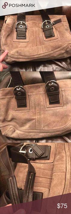 Suede Coach Handbag Great condition Coach Bags Shoulder Bags