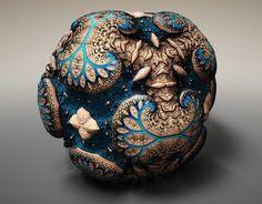 Spectacular Fabergé Fractals by Tom Beddard. 3D generative art.