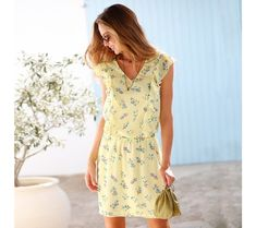 Šaty s potlačou | blancheporte.sk #blancheporte #blancheporteSK #blancheporte_sk #novákolekcia #jar #leto Short Sleeve Dresses, Dresses With Sleeves, Spring, Casual, Fashion, Printed Gowns, Curvy Women, Plus Size, Tunics