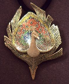Peacock Pendant Brooch by John Paul Miller