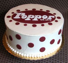 """Dr Pepper Cake - just missing """"Dr"""" Dr Pepper Cake, Coca Cola Cake, Birthday Cakes For Teens, Ginger Ale, Cookie Bars, Let Them Eat Cake, Cake Designs, Amazing Cakes, Coke"""