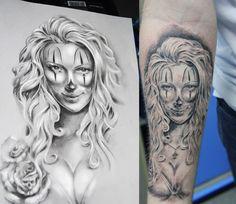 #tattoo #sketchtattoo #idea #ink #tattooartist #tattoonhamon #inked #tattooed #chicano