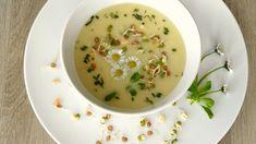 Polévka z bílé ředkve s klíčky