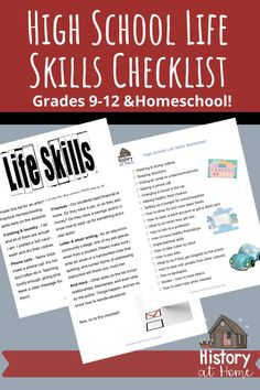 This checklist is perfect for high schoolers to work on specific life skills! You could also modify it some for younger students. These are the top 20 life skills high schoolers should have before graduation!  #lifeskills #checklist #highschool #homeschooling #homeschoolhighschool #freeworksheet #freebie #HistoryatHome