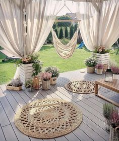 Backyard Patio Designs, Backyard Ideas, Small Backyard Design, Terrace Ideas, Balcony Ideas, Porch Ideas, Outdoor Living, Outdoor Decor, Outdoor Curtains For Patio
