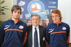 #Magrini insieme ai due calciatori della #VisPesaro #Dominici e #Ridolfi