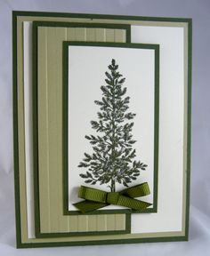 card with a clean design... Lovely as a Tree ... simple elegance ...  Stampin' Up!