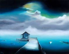 "Storm's Approach - David Fedeli 22""x28"" Oil on Canvas"