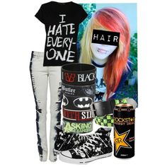 """Untitled #78"" by ashwin-the-kid on Polyvore Omg. I love this outfit and Rock Star Energy Drink :)"
