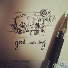 Wednesday morning #drawing #ink #pen (Taken with Instagram) #beejaedee