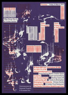 6072:James Langdon in Poster | Glitched repetition, overprinting, and ink smears. Interesting fusion of digital and analog errors.
