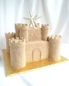 Sand castle rice krispie treats