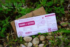 Caixa Rústica: Convite Travel  ▫️ Inove com a Caixa Rústica e surpreenda convidados!  ∴ Solicite seu orçamento! www.caixarustica.com  #convite #kraft #casamento #rustico #invitation #rustic #wedding #papelaria #vintage #travel #viagem #passaport #passaporte #ticket