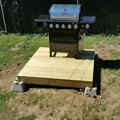 Make a backyard floating deck for a great grill space or other need.