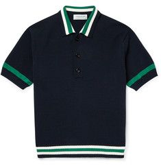 Tomorrowland - Contrast-Trim Knitted Cotton Polo Shirt