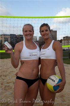 Beach volleyball bikini tips: It's pretty unforgiving, the beach volleyball bikini - here's how the Olympic Team GB players stay in shape!