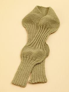 Rib Sampler Scarf Pattern (Knit)