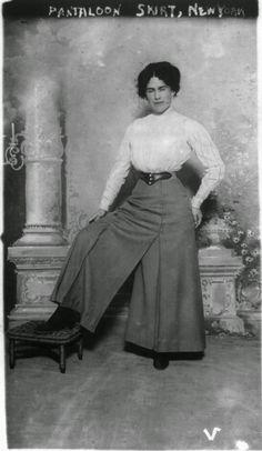 "1900's, no source information, text on photo states ""Pantaloon skirt, New York"""