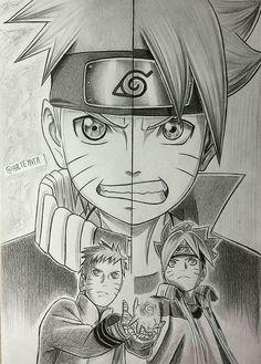 Disegno .Naruto e Boruto