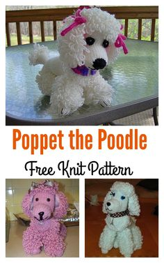 Poppet the Poodle Free Knit Pattern