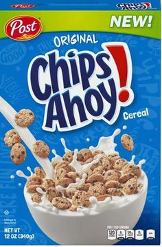 ® is cereal celebration that puts the taste of America's Favorite Chocolate Chip Cookie right into your breakfast bowl. Breakfast Cereal, Breakfast Bowls, Squishies, Kids Cereal, Cereal Boxes, Chips Ahoy, Junk Food Snacks, Chocolate Chip Cookies, Desert Recipes