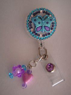 Butterfly badge holder