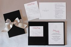 Black and white wedding invitations | Winter Wedding Ideas: Winter Wedding Invitations via @insideweddings