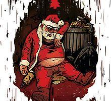 Drunk Santa Funny Christmas Card von Jeremy Ley