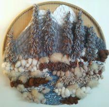 18 Ideas wall hanging woven tapestries fiber art for 2019 Weaving Textiles, Weaving Art, Tapestry Weaving, Loom Weaving, Wall Tapestry, Wool Wall Hanging, Weaving Wall Hanging, Circular Weaving, Wall Stencil Patterns