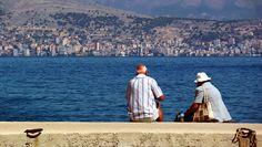 Blick von Kassiopi nach Saranda (Albanien)
