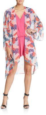Printed Open-Front Kimono Jacket - $39.99