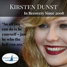 A stunnng example of happy recovery #kirstendunst we are all rooting for you!