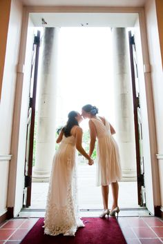 Anne + Jess' DIY garden themed wedding in blue & green in Washington, DC. Images by Photo Lady Love.