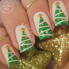 Top Weihnachten Nail Art Design - New Ideas Christmas Manicure, Xmas Nails, Holiday Nails, Halloween Nails, Diy Nails, Valentine Nails, Nail Art Designs Videos, Nail Art Images, Nail Art Videos
