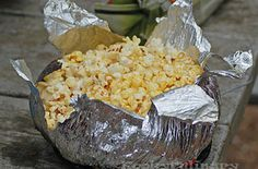 Stovetop popcorn (like Jiffy Pop) can be made over a campfire. | 41 Genius Camping Hacks You'll Wish You Thought Of Sooner