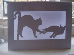 CATS IN A FRAME CARD on Craftsuprint designed by Clive Couter - gsd file
