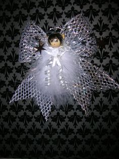 Cassandra - Christmas Angel - Handmade Angel - Feather Angel Ornament - Gift Topper - Birthday - Shower - Christmas Ornament - Gift Wrap by angelsofheaven. Explore more products on http://angelsofheaven.etsy.com