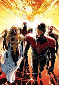 "#AvX ""The Phoenix Five"" ~ art by Olivier Coipel"