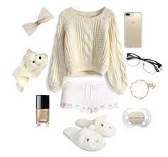 """""""Little Outfit 31 (DDLG)"""" by babydoll-devil17 ❤ liked on Polyvore featuring Eberjey, Chicwish, Accessorize, Chanel, Speck, little, ddlg and cgl"""