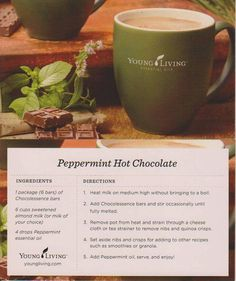 Young Living Essential Oils: Peppermint Hot Chocolate Recipe
