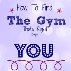 How To Find The Gym That's Right For You / The Cookie ChRUNicles #running #gym #fitness
