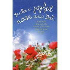Make A Joyful Noise Unto God (Psalm 66:1-2, KJV) Bulletins, 100