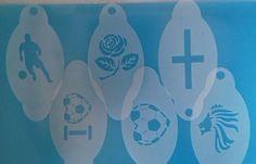 Football Face Paint, Glitter Tattoo Set, Face Paint Set, Face Painting Stencils, England Football, Community Events, Stencil Designs, Football Soccer, World Cup