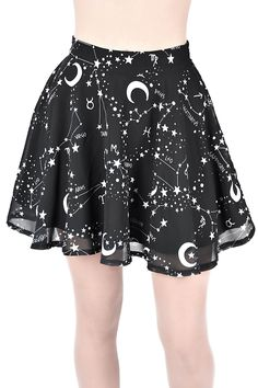 Milky Way Chiffon Skirt - outfits - Chiffon Rock, Chiffon Skirt, Print Chiffon, A Skirt, Skater Skirt Dress, Goth Skirt, Teen Fashion Outfits, Modest Fashion, Anime Inspired Outfits