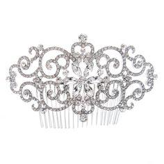 Swarovski Crystal Rhinestone Bridal Wedding Comb