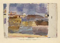 Paul Klee, August Macke, and Louis Moilliet traveled to Tunis in April they stayed two weeks. Klee painted 35 watercolors and 13 drawings, Macke painted 33 watercolors and 79 drawings. Acrylic Painting Lessons, Oil Painting Abstract, Painting & Drawing, Watercolor Artists, Watercolor And Ink, Watercolor Paintings, Watercolors, Oil Paintings, Landscape Paintings