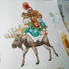 Moose travels!
