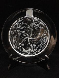 Lalique France Crystal Plate Ballet De Poisson Fish Ballet 1967 Mint w/ Box