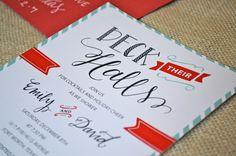 Christmas bridal shower invitation holiday by bradfordroaddesigns couples shower ideas custom holiday couples wedding shower invitation filmwisefo